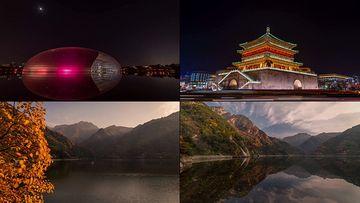 北京故宫和大剧院视频素材