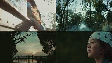 旅途路上的美女视频素材