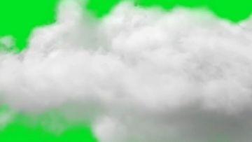 穿过云层绿幕视频素材
