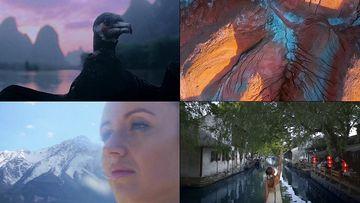 在中国旅游的外国美女视频素材