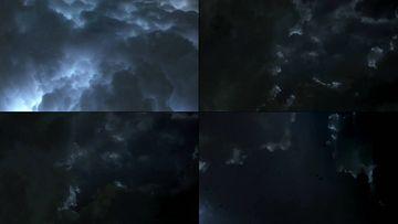 乌云密布闪电打雷视频素材