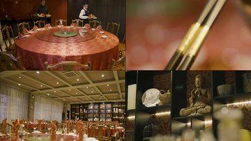 唐人街的中国饭店视频素材