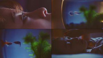 失眠的美少女视频素材