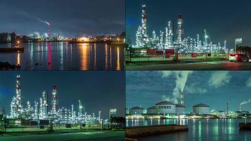 日本石油加工厂视频素材