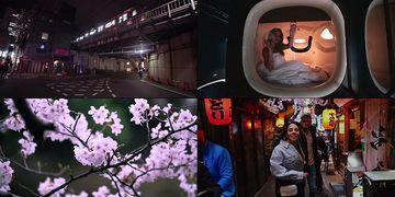 到日本旅行的年轻人视频