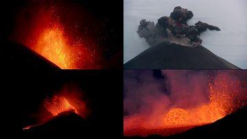 火山口的闪电视频