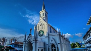 欧式建筑教堂视频素材