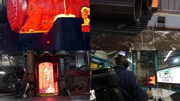钢铁冶炼钢铁厂视频素材