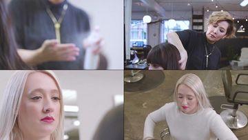 女发型师视频素材
