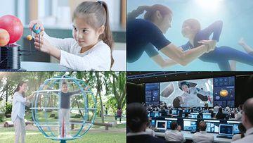 儿童智力开发宇航员视频素材