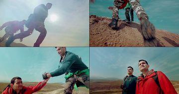 4K登山到山顶视频