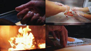 炒肉美食视频素材