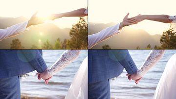4K牵手的新婚夫妻