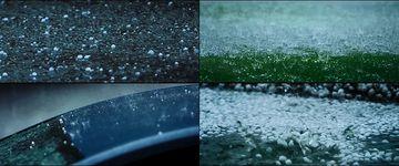 下冰雹的天气视频素材