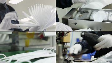 口罩生产线视频素材