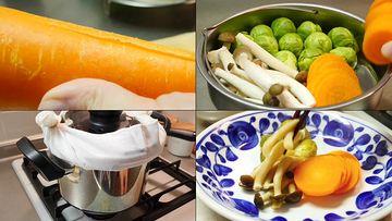 健康美食素餐视频素材