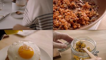 居家生活的美食视频素材