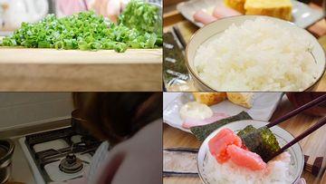 精致的午餐做饭吃视频素材