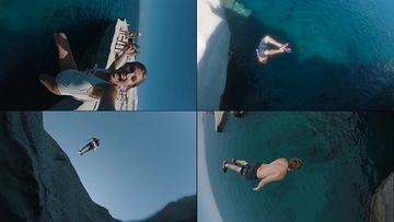 跳水视频素材