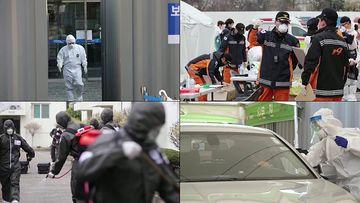 韩国新冠疫情防疫现场视频