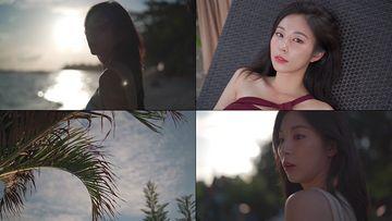 海边性感的小清新美女视频