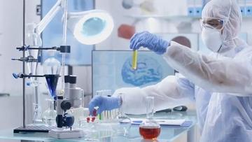科学家在检测病毒试剂视频