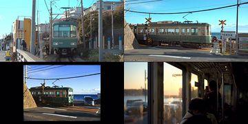 4K日本海边的轻轨列车视频