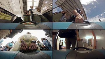 拉行旅箱视频素材