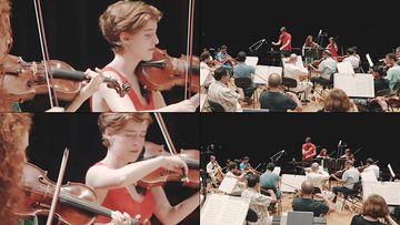 演奏拉小提琴表演