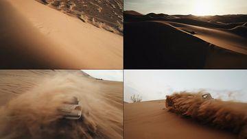 大气航拍沙漠视频素材
