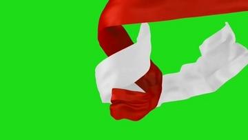旋转的红白丝绸视频素材