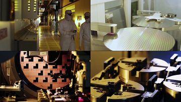 半导体芯片生产公司视频素材