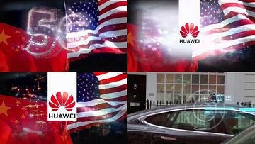 中美5G之争视频素材