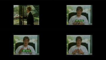 年轻时的比尔盖茨视频素材