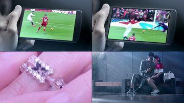 用手机看直播的人视频素材