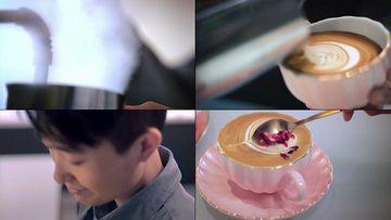 咖啡师美味视频素材