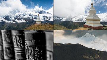 尼泊尔延时摄影视频素材