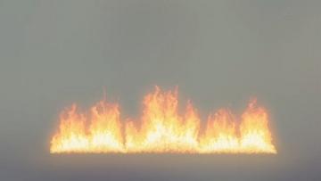一排火燃烧起来VFX
