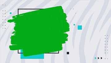 简洁的笔刷绿幕背景视频
