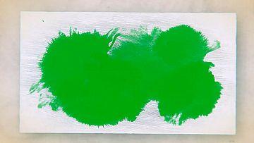 水墨在纸片上晕开绿幕素材