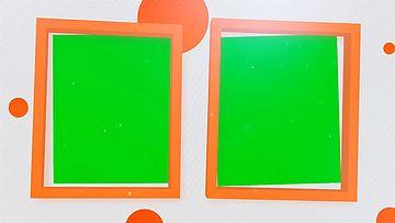 相框里的内容展示绿幕素材