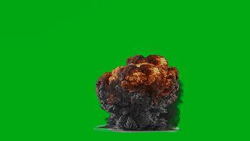 爆炸的大火球绿幕视频素材