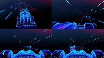 4K 3D空间赛车超跑视频素材