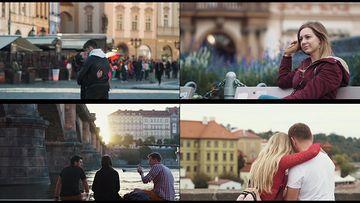 4K捷克共和国的首都的人民和游客