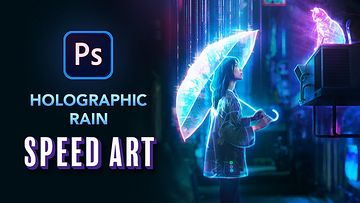 在Photoshop中创建全息雨视频教程