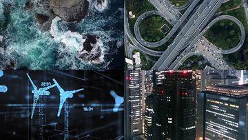 科技能源公司片头视频素材