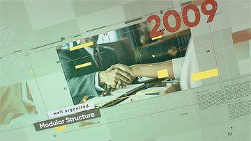 企业时间线展示2021AE模板