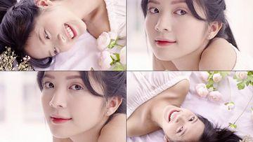 面对镜头微笑的女孩视频素材
