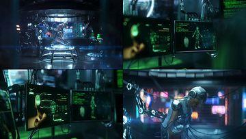 4K人工智能未来机器人视频素材