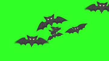 蝙蝠绿幕视频素材